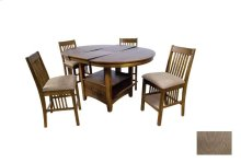 "Wood/Oak Veneer Pub Table - 36"" H"