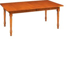 """Rectangular Large Extension Table w/Two 12"""" Leaves"""