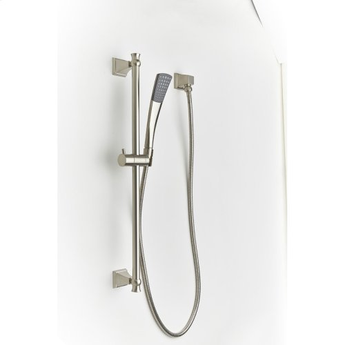 Slide Bar with Hand Shower Leyden (series 14) Satin Nickel