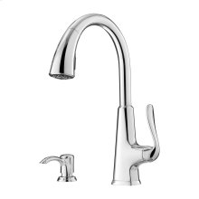 Polished Chrome 1-Handle Pull-Down Kitchen Faucet