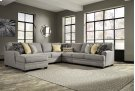 Cresson - Pewter Left Chaise, Armless Loveseat, Armless Chair, Right Loveseat, Wedge Product Image