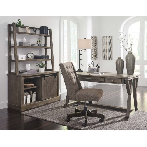 Luxenford - Grayish Brown 2 Piece Home Office Set