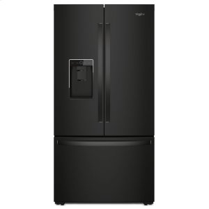 36-inch Wide Counter Depth French Door Refrigerator - 24 cu. ft. - BLACK