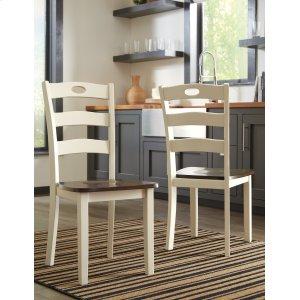 AshleySIGNATURE DESIGN BY ASHLEYWoodanville - Cream/Brown Set Of 2 Dining Room Chairs