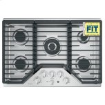 """GE Profile 30"""" Built-In Tri-Ring Gas Cooktop with 5 Burners and Optional Extra-Large Integrated Griddle"""