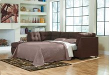 Maier RAF Sectional Sleeper w/LAF Chaise - Walnut Collection