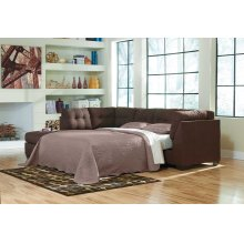 Maier Walnut Sleeper Sectional Left