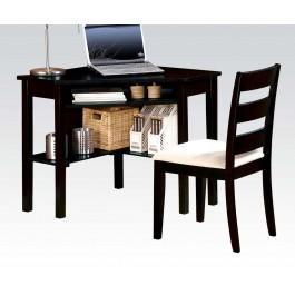 Bk 2pc Pk Corner Desk , Chair