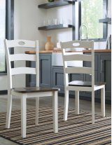 Woodanville - White/Brown Set Of 2 Dining Room Chairs Product Image