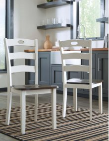 Woodanville - Cream/Brown Set Of 2 Dining Room Chairs