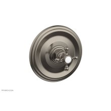 "HEX TRADITIONAL 1/2"" Mini Thermostatic Shower Trim 4-097 - Pewter"