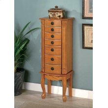 Country Warm Oak Jewelry Armoire