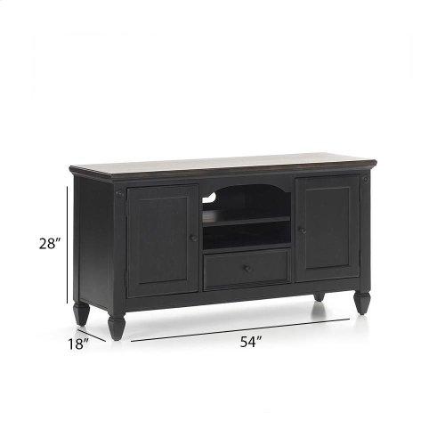"Glennwood 54"" TV Console  Black & Charcoal"