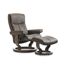 Stressless Peace Small Classic Base Chair and Ottoman