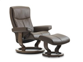 Stressless Peace Medium Classic Base Chair and Ottoman