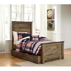 Ashley Furniture Trinell - Brown 5 Piece Bed Set (Twin)