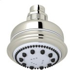 "RohlPolished Nickel 3 1/2"" Master-Flow 3-Function Showerhead"