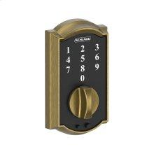Schlage Touch Keyless Touchscreen Deadbolt with Camelot trim - Bright Brass