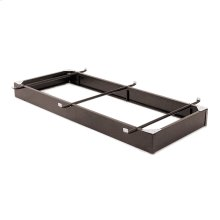 """Pedestal 1033XL Bed Base with 10"""" Brown Steel Frame and Center Cross Tube Support, Twin XL"""