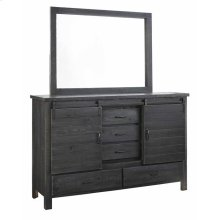 Door Dresser \u0026 Mirror - Charcoal Finish