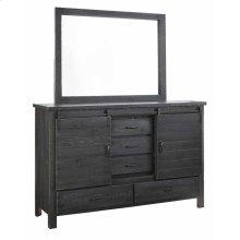 Door Dresser \u0026 Mirror - Charcoal Finish