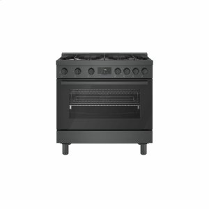 Bosch800 Series Gas Freestanding Range 36'' Black Stainless Steel HGS8645UC