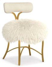 Living Room Swanson Upholstered Metal Side Chair
