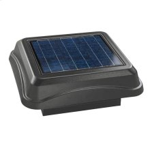 Curb Mount, Solar Powered Attic Ventilator in Weathered Wood