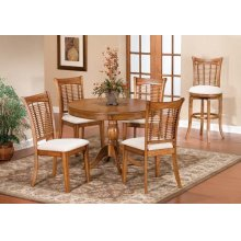Bayberry 5 Piece Round Dining Set - Oak