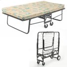 "Rollaway 1292 Folding Bed and 48"" Fiber Mattress with Angle Steel Frame and Link Deck Sleeping Surface, 47"" x 75"" Product Image"