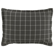 Hudson Plaid Gray Standard Sham 20x26