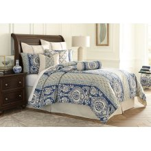 10pc King Duvet Set Cadet