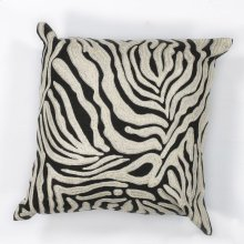 "L119 Zebra Oasis Pillow 18"" X 18"""