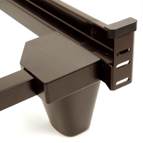 Presto Universal Sized Folding Bed Frame with Headboard Brackets, Mahogany