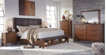 Ralene - Medium Brown 5 Piece Bedroom Set Product Image
