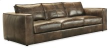 Living Room Solace Leather Stationary Sofa