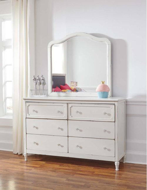 Faelene - Chipped White 2 Piece Bedroom Set