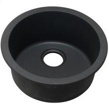 "Elkay Quartz Classic 18-1/8"" x 18-1/8"" x 7-1/2"", Single Bowl Dual Mount Bar Sink, Black"