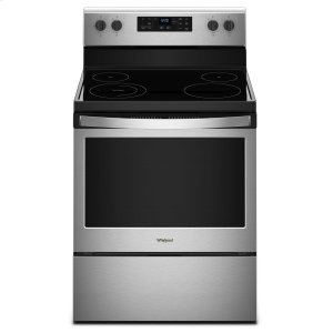 Whirlpool5.3 cu. ft. Freestanding Electric Range with Adjustable Self-Cleaning Stainless Steel
