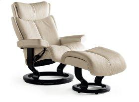 Stressless Magic Medium Classic Base Chair and Ottoman