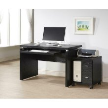 Contemporary Black Oak Computer Desk