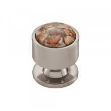 Firesky Mohave Yellow Knob 1 1/8 Inch Brushed Satin Nickel