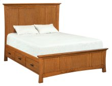 LSO Prairie City Queen Mantel Storage Bed