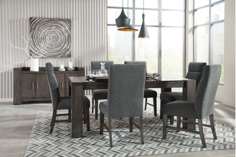 Chansey Dark Gray 5 Piece Dining Room Set