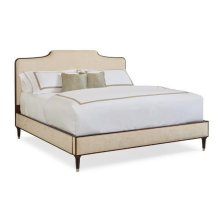 Queen Bed easy on the eyes