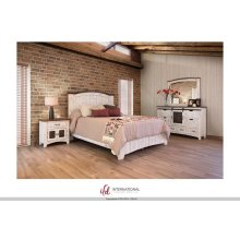Pueblo White Queen 5 Pice Bedroom Set