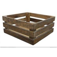 Wood crate Natural Brown Finish