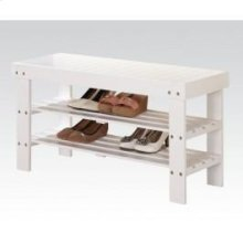 White Bench W/shoe Rack