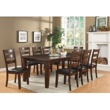 "Arianna Brown Dining Table with 18"" Leaf"
