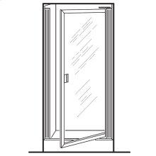 Prestige Framed Pivot Shower Doors - Silver